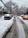 Nowy York miasta snowing zdjęcia stock