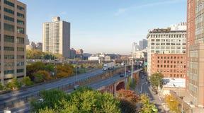 nowy, York, miasto, linia horyzontu, budynek, Manhattan, widok, biuro, str Fotografia Royalty Free