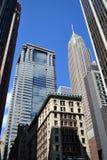 nowy York niebo cykliny Zdjęcia Royalty Free
