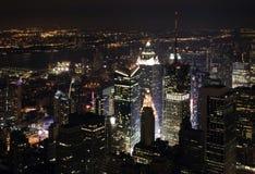 nowy York nightscape miasta. Zdjęcia Royalty Free