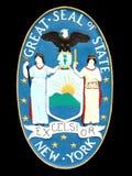 nowy York państwa pieczęć Zdjęcia Royalty Free