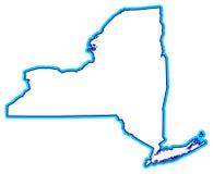 nowy York państwa konturu Zdjęcia Royalty Free