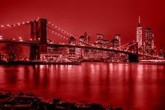 nowy York w nocy miasto obrazy royalty free