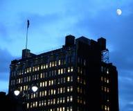 nowy York w nocy miasto Obraz Royalty Free