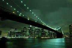 nowy York w nocy miasto Fotografia Stock