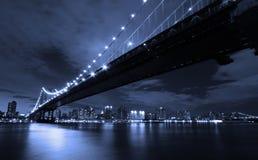 nowy York w nocy miasto Zdjęcia Royalty Free