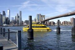 nowy York wody taksówkę zdjęcia stock