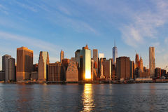 nowy York wschód słońca Obrazy Royalty Free