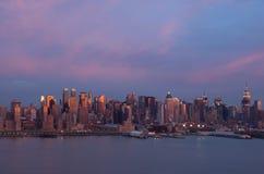 nowy York, zachód słońca Zdjęcie Stock