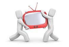 nowy zakup tv Zdjęcia Royalty Free