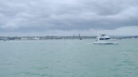 nowy Zealand Auckland bayswater miasta & marina widok zbiory wideo