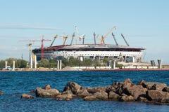 Nowy Zenitu stadium w budowie zdjęcie royalty free