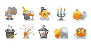 nowy zestaw ikony lat royalty ilustracja
