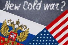 Nowy zimnej wojny tekst pisać na chalkboard Zdjęcia Royalty Free