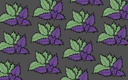 Nowych liści tła purpurowa ilustracja Obraz Stock