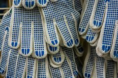 Nowych prac rękawiczki na supermarkecie zdjęcie stock
