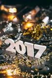2017 Nowych Year& x27; s wigilii Grunge tło Fotografia Royalty Free