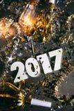 2017 Nowych Year& x27; s wigilii Grunge tło Fotografia Stock