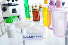 Noxious Additives In Cosmetics Stock Photo