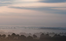 Noyade dans le brouillard Images stock