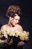 Noyade dans les roses de l'amour Images stock