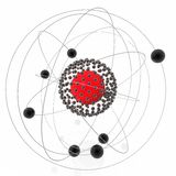 Noyau atomique Photographie stock