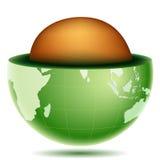 Noyau de globe Photos stock