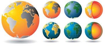 Noyau de globe d'or Images stock