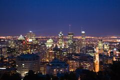 Noyau du centre de Montréal images libres de droits