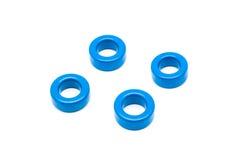 Noyaux bleus de Torroid de ferrite d'inducteur et de transformateur Photos libres de droits