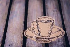 Noyez la tasse de faux café photo libre de droits