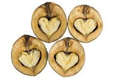 Nozes - como corações Imagens de Stock