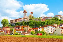 Free Nozzano Castello And Its Agricultural Crops, Medieval Village In The Province Of Lucca, Tuscany Royalty Free Stock Images - 100397789