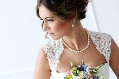 nozze Bella sposa Fotografie Stock Libere da Diritti
