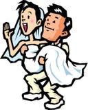 Nozze dello sposo e della sposa Immagine Stock