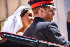 Nozze di principe Harry e di Meghan Markle Immagine Stock Libera da Diritti