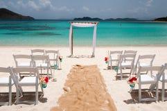 Nozze di spiaggia immagini stock libere da diritti
