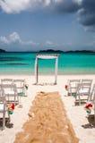 Nozze di spiaggia fotografie stock libere da diritti