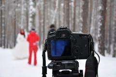 Nozze e macchina fotografica Fotografia Stock Libera da Diritti