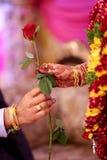 Nozze indiane (impegno) Fotografia Stock