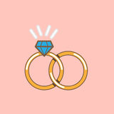 Nozze Ring Icon Isolated Fotografia Stock