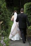 Nozze - sposa e sposo Fotografia Stock