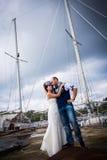 Nozze, stile, yacht fotografie stock