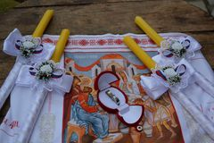 Nozze tradizionali di Ortodox Immagini Stock