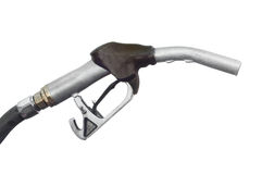 Nozzle. Gas station fuel nozzle filler Royalty Free Stock Image