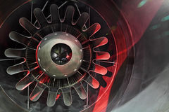 Nozzle. Real nozzle of the exploitation gas turbine engine jet aircraft inside view Royalty Free Stock Photography