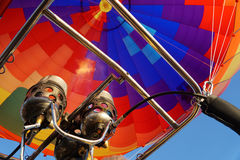 Nozzle Fire with Hot Air Balloon Royalty Free Stock Photography