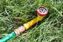 Nozzle for garden hose Stock Photo