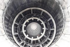 A nozzle of a jet engine with a variable thrust direction.  Royalty Free Stock Photos