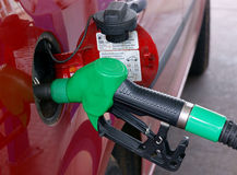 Nozzle refilling car Stock Photo